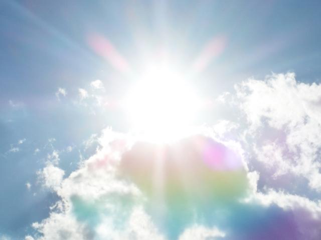 暑い太陽のイメージ