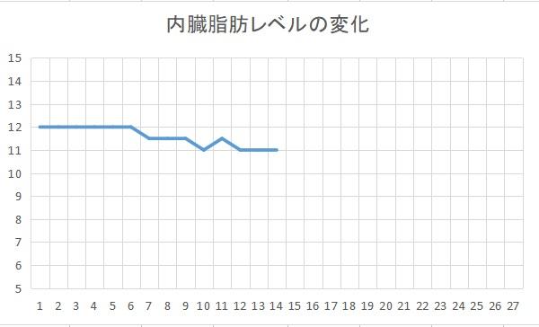 内臓脂肪レベル3か月目