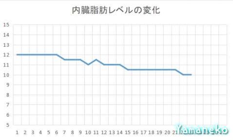 内臓脂肪レベルの変化2